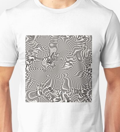 exotic lines on grey Unisex T-Shirt
