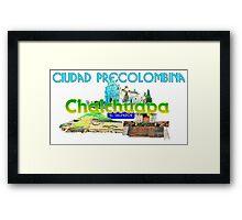 Chalchuapa ciudad preecolombina Framed Print