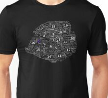 Paris Map typographic underground stations Unisex T-Shirt