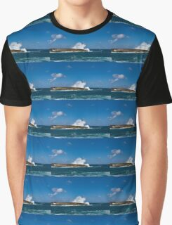 Pacific Postcard - Famous Laie Point, Hawaii, USA Graphic T-Shirt
