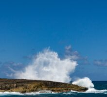 Pacific Postcard - Famous Laie Point, Hawaii, USA Sticker