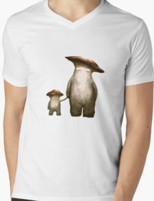 Mushroom People Mens V-Neck T-Shirt