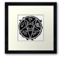 Satanic Kitty Framed Print