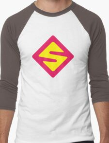 IISuperwomanII Colored Logo! Men's Baseball ¾ T-Shirt