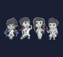 Team Avatar Korra Chibi Kids Tee