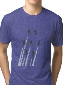 Breit patrole with chemtrails Tri-blend T-Shirt