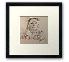 Ziyi Zhang Framed Print