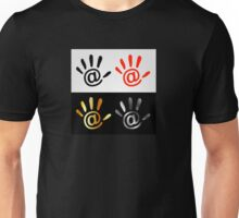 Palm with at sign Unisex T-Shirt
