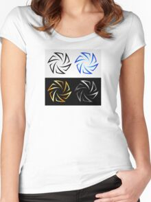 Aperture in different colors  Women's Fitted Scoop T-Shirt