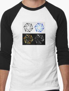 Aperture in different colors  Men's Baseball ¾ T-Shirt