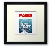 Crazy Cat Meow Paws Jaws Framed Print