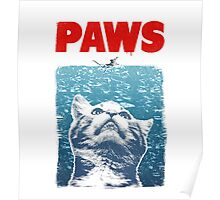 Crazy Cat Meow Paws Jaws Poster