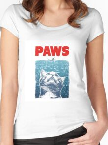 Crazy Cat Meow Paws Jaws Women's Fitted Scoop T-Shirt