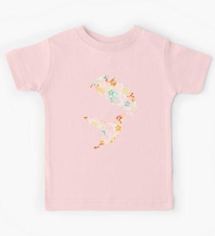 Floral Hummingbird Kids Tee