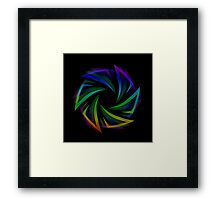 Abstract futuristic design element  Framed Print