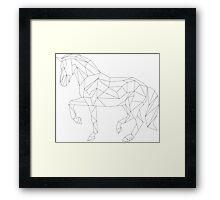 Horse Trot - Poly-Line Framed Print