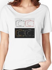 Abstract photography camera Women's Relaxed Fit T-Shirt