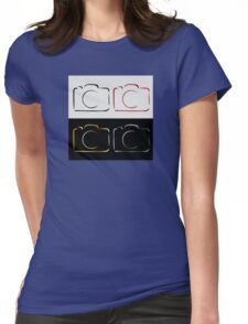 Abstract photography camera Womens Fitted T-Shirt