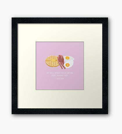 Leslie Knope Loves Breakfast Food Framed Print
