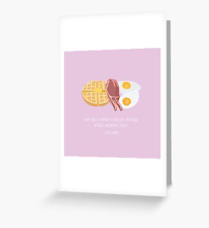 Leslie Knope Loves Breakfast Food Greeting Card