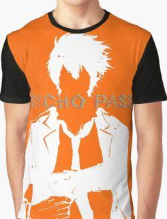 Psycho Pass Shinya Kogami White Graphic T-Shirt