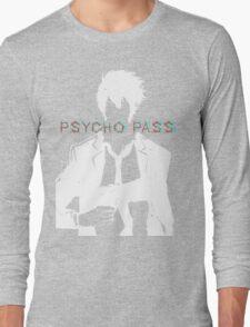 Psycho Pass Shinya Kogami White Long Sleeve T-Shirt