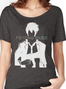 Psycho Pass Shinya Kogami White Women's Relaxed Fit T-Shirt