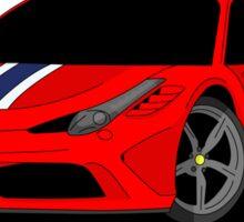 458 Speciale Supercar Sticker