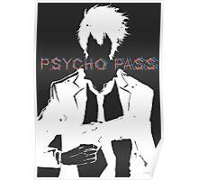 Psycho Pass Shinya Kogami White Poster