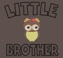 Owl Little Brother Baby Tee