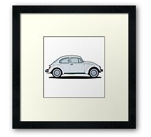 Beetle grey Framed Print