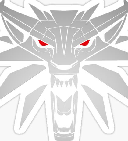 The Witcher 3 Red Eyed Wolf Sticker