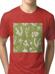 Herb and Green Background Tri-blend T-Shirt