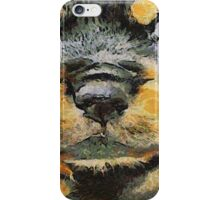Impressinist Rottweiler Puppy Portrait in Vincent van Gogh Style iPhone Case/Skin