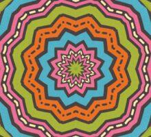 Retro kaleidoscope Sticker