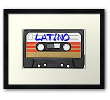 Latin Latino music tape Framed Print