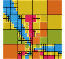 Colorful squares abstract design Photographic Print