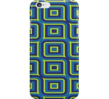 Blue yellow rectangles pattern iPhone Case/Skin
