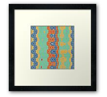 Distorted retro bubbles Framed Print