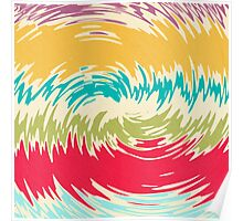 Colorful whirlpool Poster
