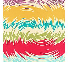 Colorful whirlpool Photographic Print