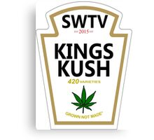 Kings Kush (Heinz Parody) Canvas Print