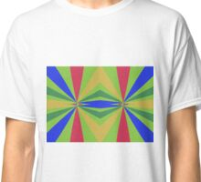 Rainbow rays abstract design Classic T-Shirt