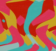Retro shapes Sticker