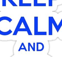 Keep Calm And Go Cubs Sticker