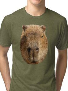 Capybara face Tri-blend T-Shirt