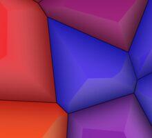 3d colorful shapes Sticker