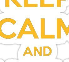 Keep Calm And Meke It Rain Sticker