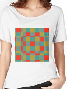 Retro squares Women's Relaxed Fit T-Shirt