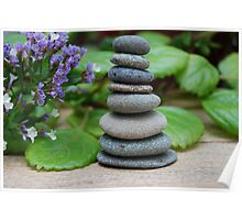 Stone stack - Zen image Poster